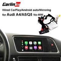 Carlinkit проводной Apple Carplay декодер для Audi A4 A5 Q5 без MMI muitimedia интерфейс CarPlay и Android авто комплект дооснащения