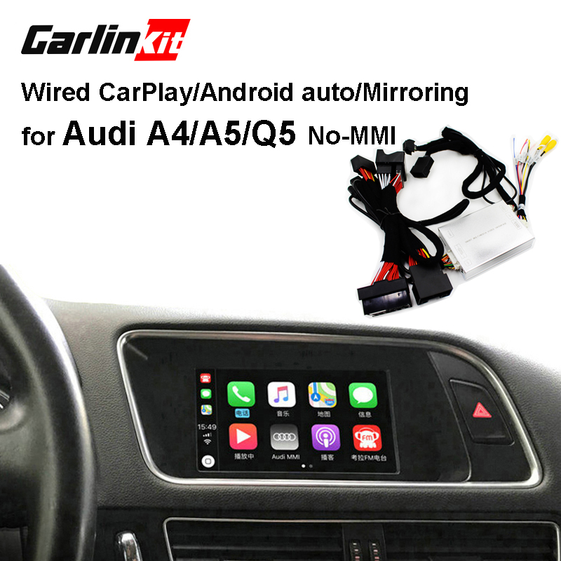 Carlinkit Wired Apple Carplay Decoder for Audi A4 A5 Q5 no-MMI muItimedia interface CarPlay&Android auto Retrofit KitCarlinkit Wired Apple Carplay Decoder for Audi A4 A5 Q5 no-MMI muItimedia interface CarPlay&Android auto Retrofit Kit