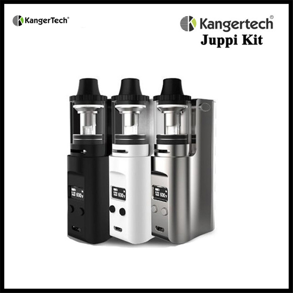 Kanger Juppi 75W TC Starter Kit Box Mod Vape Support Ni/Ti/SS316 Wires with 3ML Atomizer Tank Kangertech Electronic Cigarette kvp lover 120w tc box mod kit