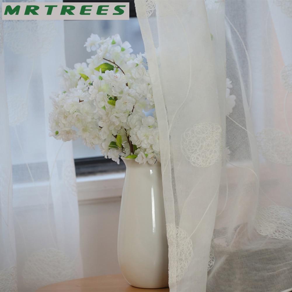MRTREES Λευκά Κεντημένα Παράθυρα - Αρχική υφάσματα - Φωτογραφία 3
