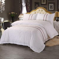 Bedding Set 4 Pieces Solid Color Brief Chic Style Quilt Cover Sheet Pillowcase Suitable For Home