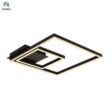 Modern Metal Rectangles Remote Control Dimmable Led Ceiling Lights Bedroom Acrylic Mask Lustre Luminaire Ceiling Lamp Fixtures modern irregular acrylic led ceiling lights lustre pmma bedroom dimmable led ceiling lamp led ceiling lighting light fixtures
