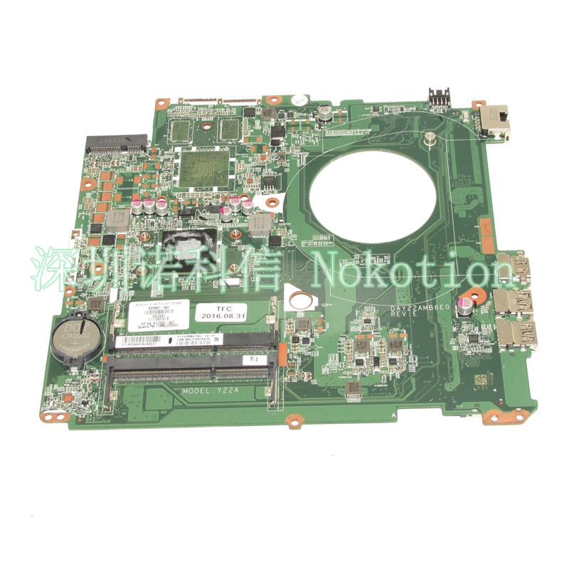 809987-001 812903-501 Laptop motherboard For hp pavilion 17-F A6-6310 CPU DAY22AMB6E0 809987-501 Mainboard Works 2016 new 1pair weisiji 50w 7 led headlight with drl high low beam driving lights for jeep wrangler hummer yamaha harley