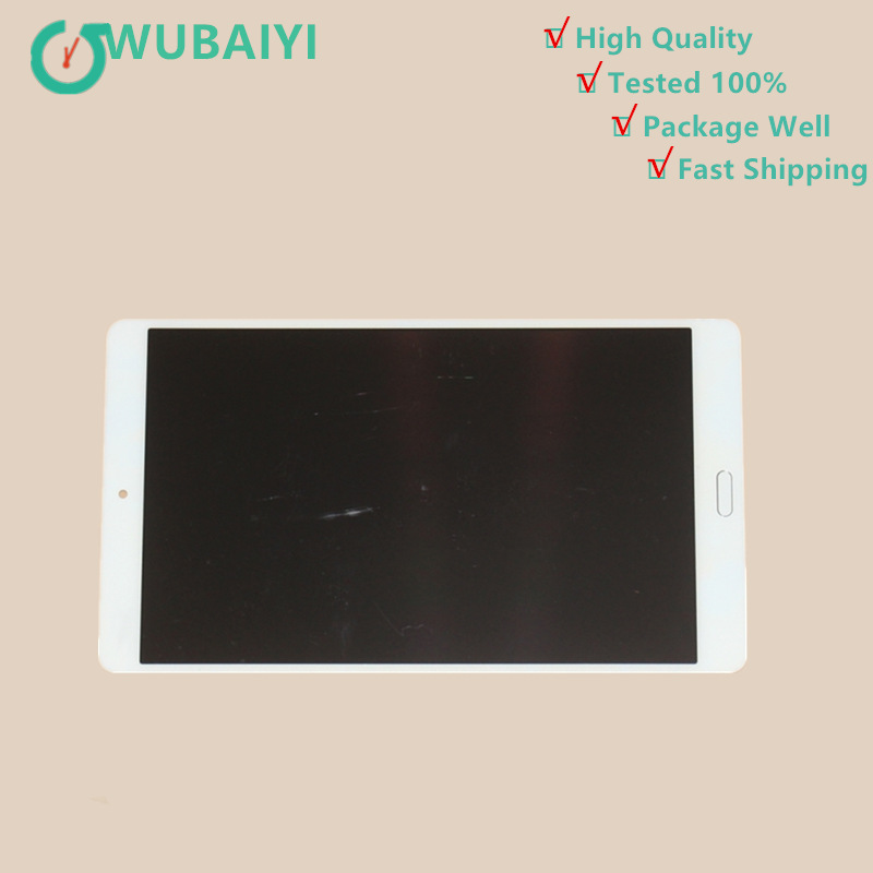 WUBAIYI 8.4 inch For Huawei MediaPad M3 BTV-W09 BTV-DL09 lcd display screen with touch screen digitizer Assembly White srjtek for huawei mediapad t1 8 0 3g s8 701u honor pad t1 s8 701 touch screen digitizer lcd display matrix tablet pc assembly