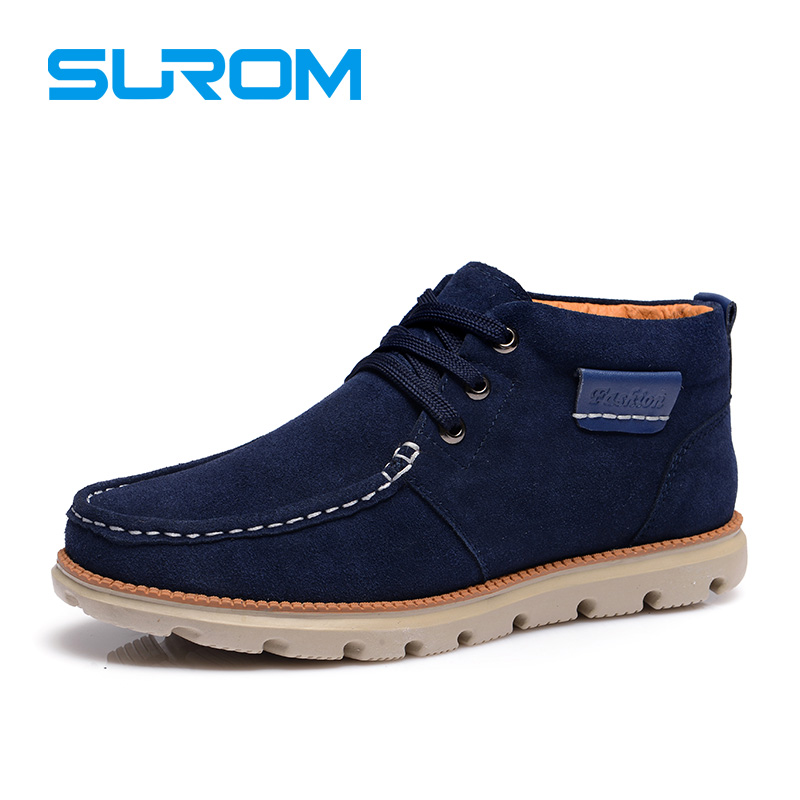 surom brand high quality real leather mens boots