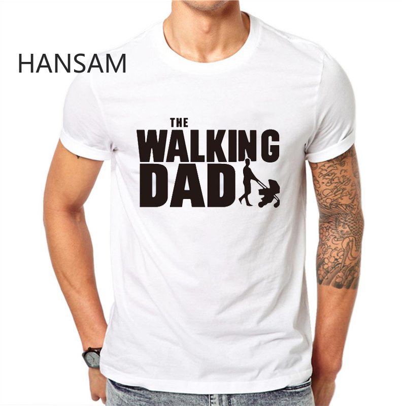 The Walking Dad Fathers Day Gift Men's Funny T-Shirt T Shirt Men  New Short Sleeve Novelty Top Tee Camisetas Hombre