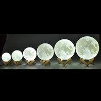 Новинка 3D печать лунный свет индивидуальные личности Lunar зарядка через usb ночник Touch управление Dim яркость