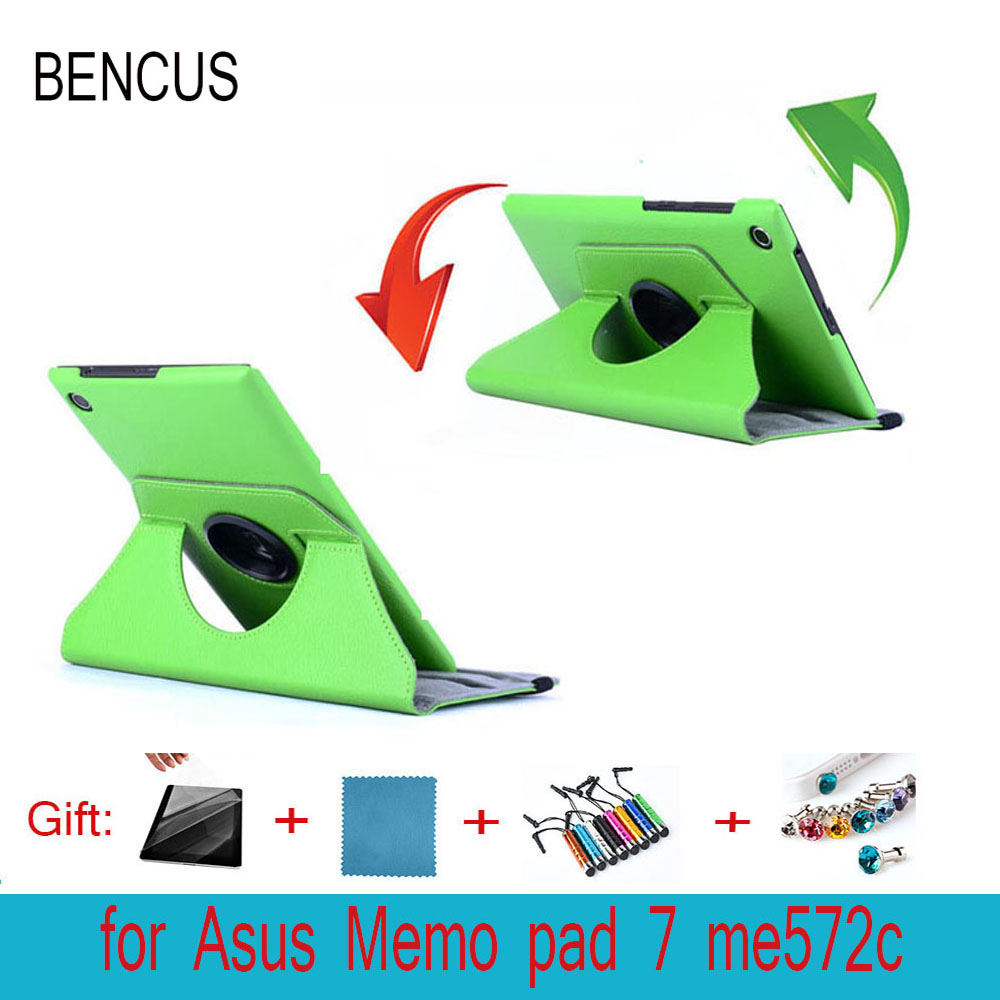 BENCUS 360 Rotating Folio Stand Leather Case Skin Shell Cover For ASUS MeMO Pad 7 ME572C ME572CL ME7250CL K007 K00R 7 inch