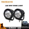 Par 25 W Canhão TRANSAUTO Frete Grátis LED Spot Luzes de Trabalho de Condução Da Lâmpada Offroad 4WD Truck Motocicleta