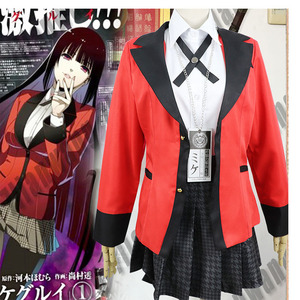 Image 2 - 7PCS 풀 세트 JP 애니메이션 가케 구루이 코스프레 의상 할로윈 Jabami Yumeko 코스프레 의상 Igarashi Sayaka Cosplay school uniform