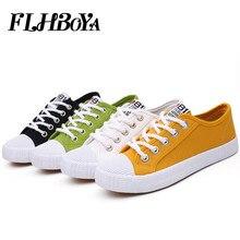 Fashion Women's Vulcanize Canvas Flats Shoes Women Girl Yellow White Casual Breathable Walking Shoes Flats Candy Tenis sneaker