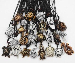 Image 3 - Смешанные ювелирные изделия, оптовая продажа, лот 25 шт., искусственная резная подвеска на удачу с морскими черепашками и серфингом, ожерелье MN386