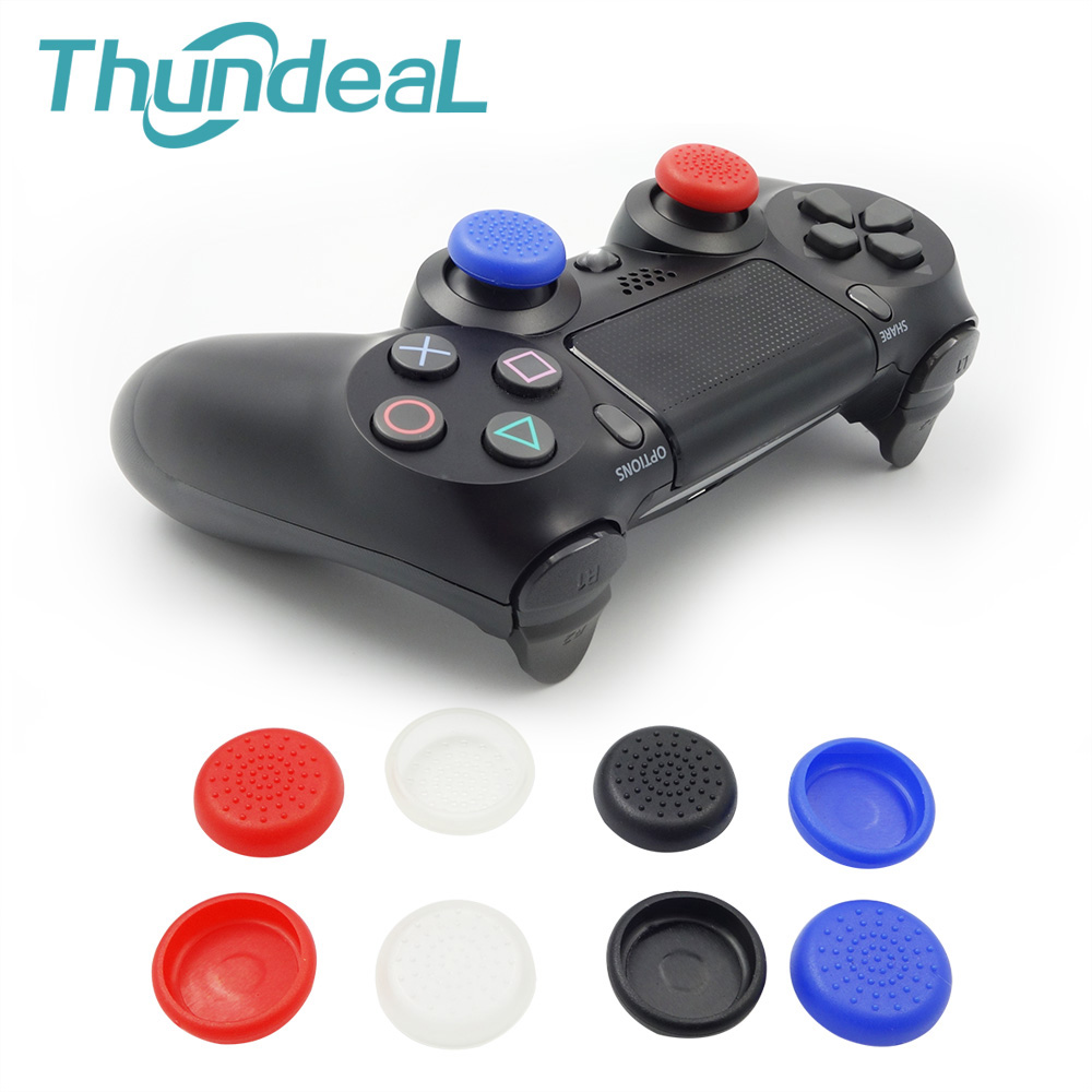 1 Pair 2Pcs/lot Thumbstick Joystick Cap Cover for Sony PS4 PS4 Pro Ps4 Slim Wireless Controllers Thumb Stick Grip Caps Case Skin
