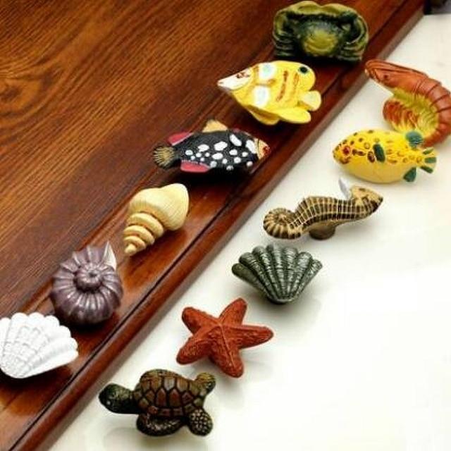 Cute Ocean Series Resin Door Pulls Handle Childlike Cabinet Drawer ...