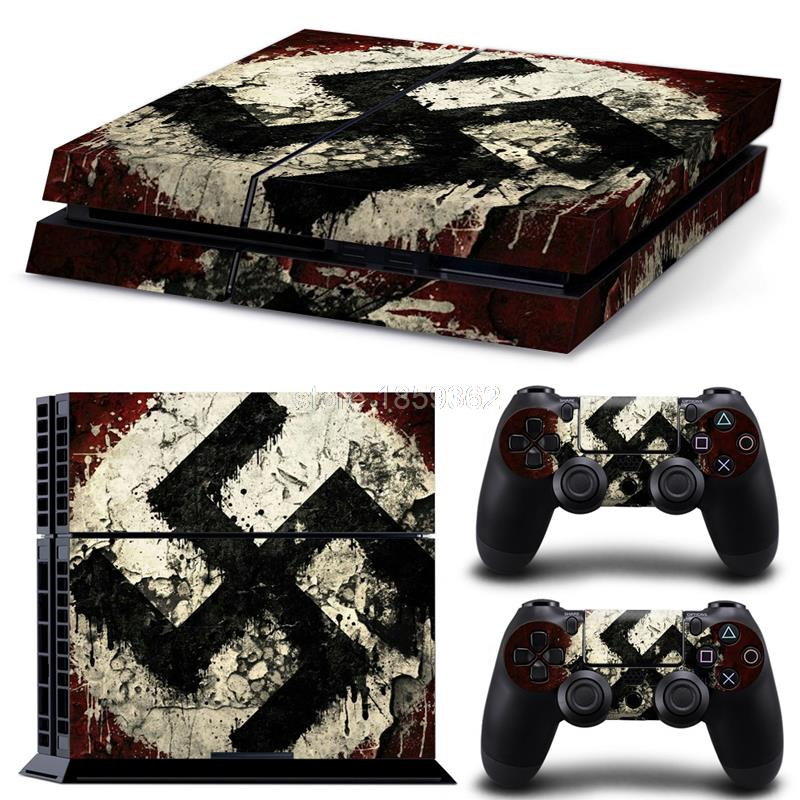 Vinyl Decal PS4 Skin Stickers Wrap for Sony PlayStation 4 Console and 2 Controllers Decorative Skins Decal 0840