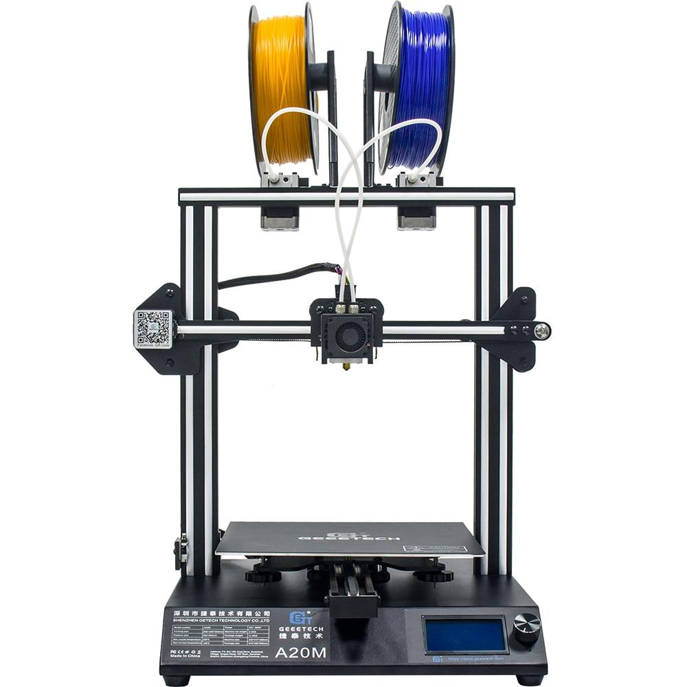 Impresora GEEETECH A20M 3D con impresión a Color, Base de construcción integrada y diseño de extrusora doble y Detector de filamentos - 3