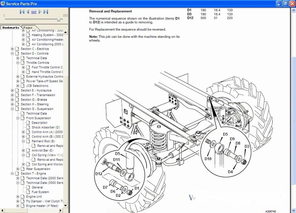 Jcb 2cx parts manual