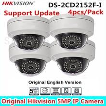 4 Шт. HiKVISIO Английская Версия 5-МП Камеры ВИДЕОНАБЛЮДЕНИЯ DS-2CD2152F-I Full HD PoE Купольная Камера Со встроенным хранения Заменить DS-2CD2155F-IS