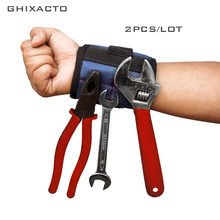 2pcs Magnetic Wristband Portable Tool Bag Oxford Cloth Electrician Wrist Tool Belt Screws Nails Drill Bits Holder Repair Tools strong magnetic wristband bracelet portable tool bag for holding screws nails drill bits tool wrist belt magnetic wristband