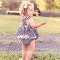 Kamimi 2017 Fashion Baby Girl Sets Striped Dress And Lace Shorts Newborn Spring Summer Girls Cute 2 Color White Stripe Set W028