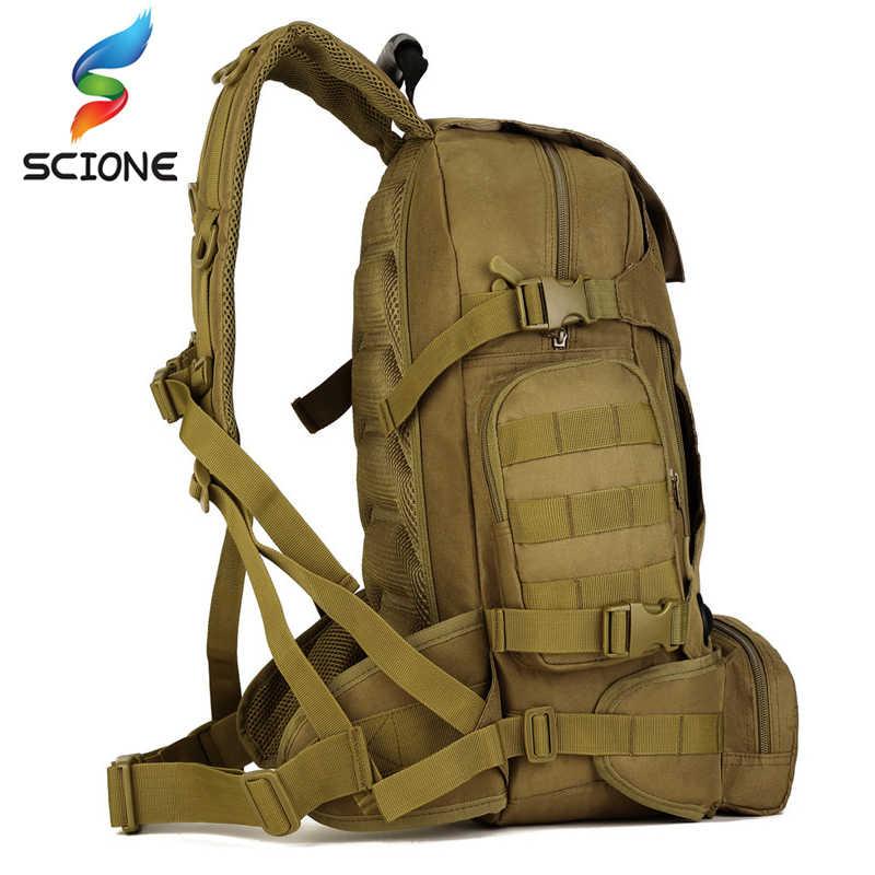 في الهواء الطلق الساخن 2 مجموعة العسكرية التكتيكية حقائب الظهر التخييم حقيبة تسلق الجبال الرجال المشي لمسافات طويلة حقيبة السفر + الخصر حزمة