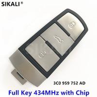 Car Remote Smart Key Complete For VW VolksWagen 3C0959752AD HLO3C0959752AD For PASSAT CC MAGOTAN 434MHz With