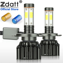 Zdatt 2Pcs H4 Led Bulb H7 H8 H9 H11 9005 HB3 9006 HB4 Canbus Headlight 100W 12000LM Moto Auto COB Car Led Light 12V Motorcycle цены онлайн
