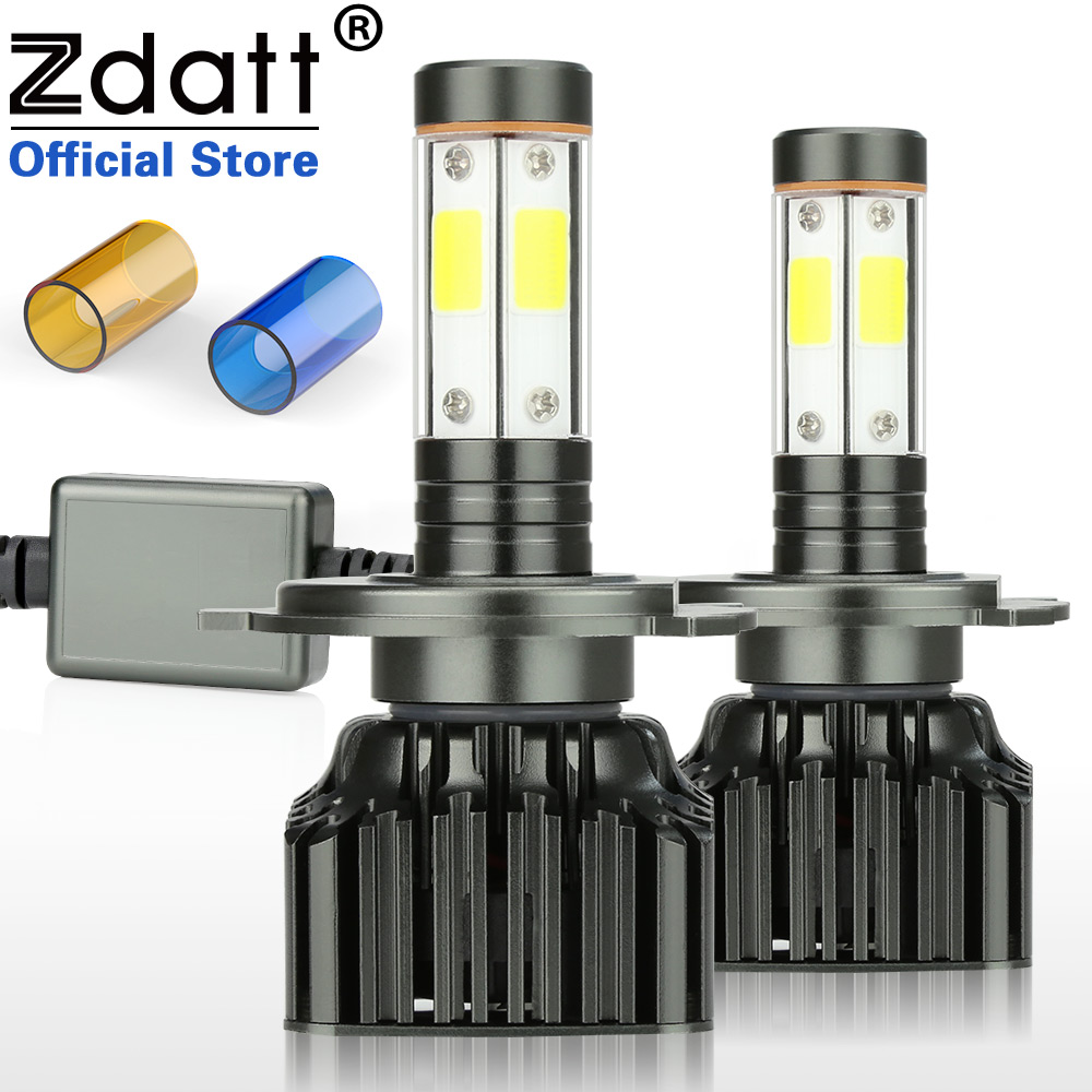 Zdatt H4 Led Bulbs H7 LED Headlights H11 H8 H9 9005 HB3 9006 HB4 Canbus 100W 12000LM COB Car Led Light 12V Auto Products