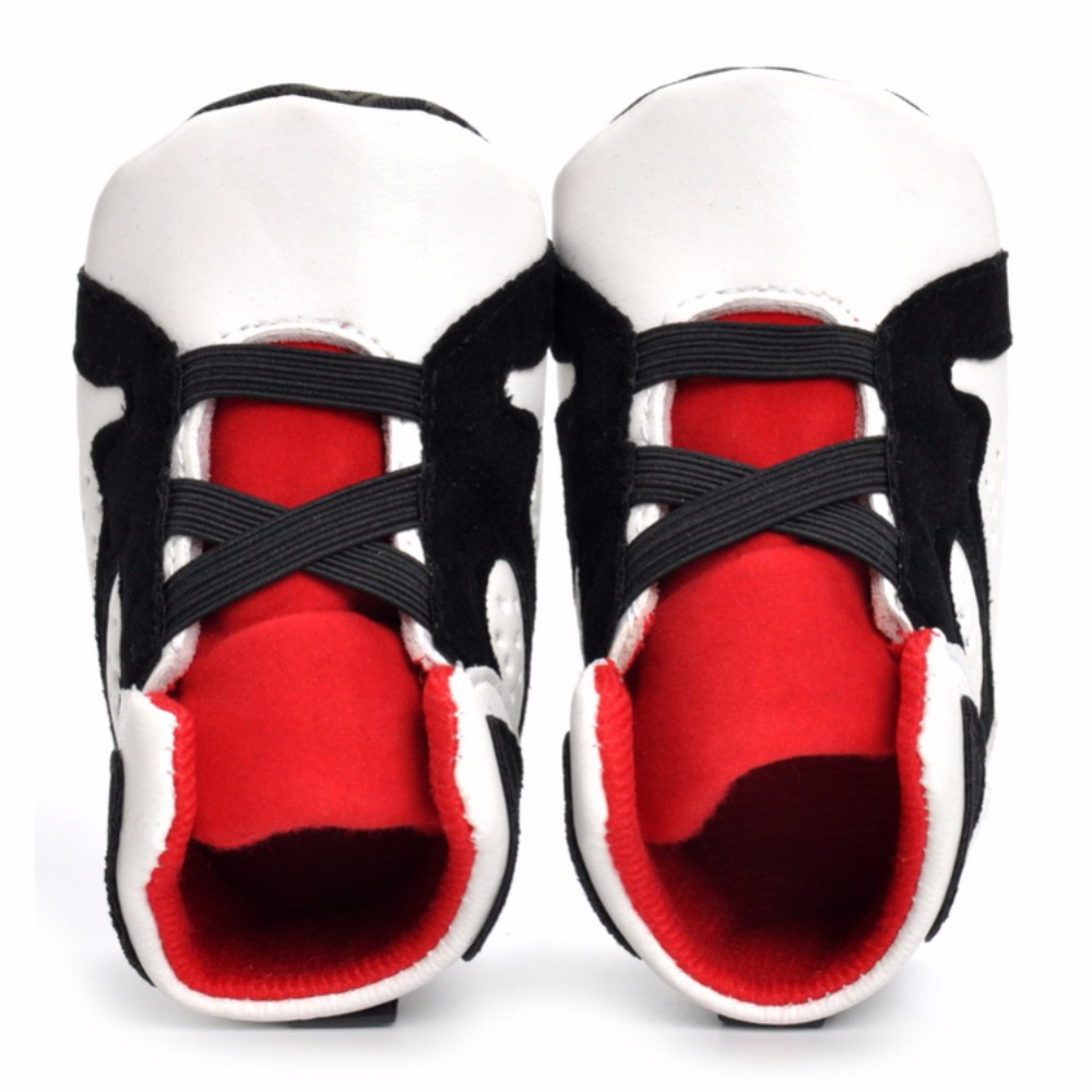 Baby Shoes Patch Colors Baby Causal Shoes PU Lace-Up Spring/Autumn Shoes
