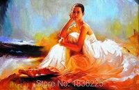 Handmade oil painting wallpaper decor wall art chinese woman portrait oil painting bathroom ideas photos wall decoration
