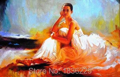 Papier peint peinture à l'huile femme chinoise | Fait à la main, art mural, portrait à l'huile, idées de salle de bains, décoration murale