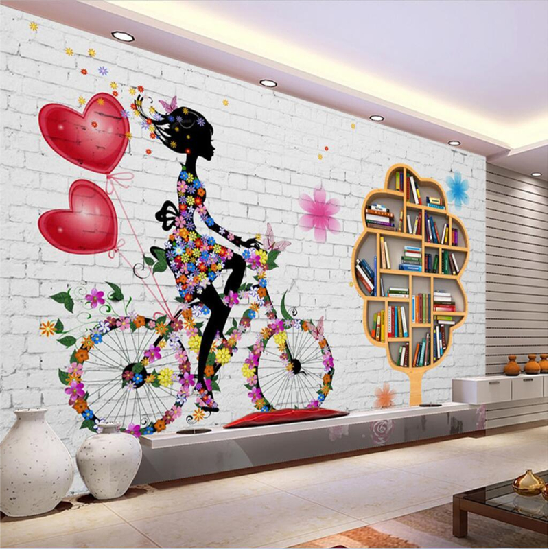 3D Bookshelf 636 Wall Paper Wall Print Decal Wall Deco Indoor wall Murals