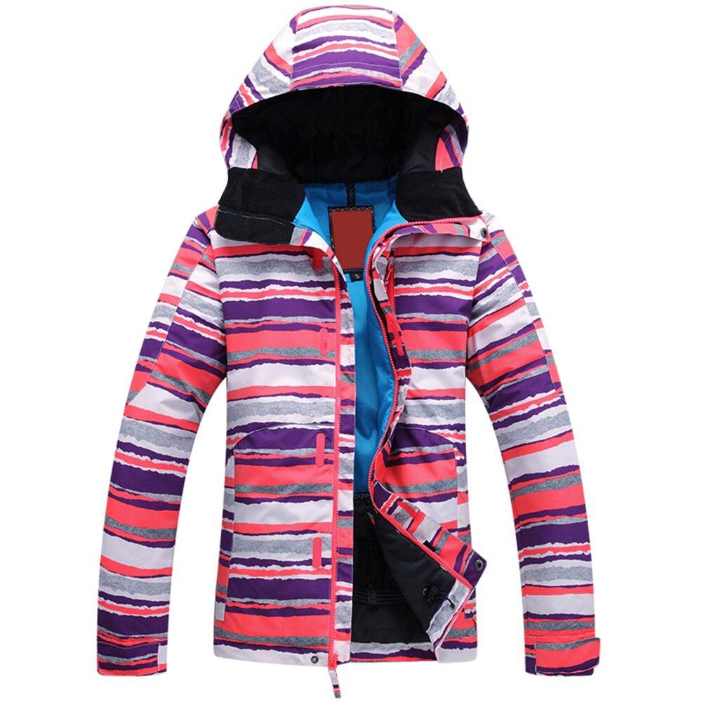 Prix pour Livraison gratuite 2016 veste de ski femmes vestes de ski de sports manteaux Snowboard femme Épaississent Neige imperméable/coupe-vent XS-L