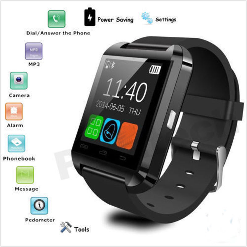 U8 Smart Watch Passometer Fitness Hands free Smartwatch For iPhone Samsung Huawei Xiaomi Android Phone As