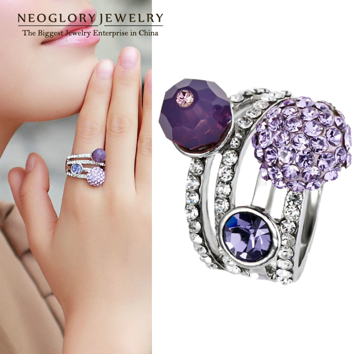 Neoglory Austrian Crystal Finger Ring Auden Rhinestone Brand Sale Wholesale Arrival Gift for CLE