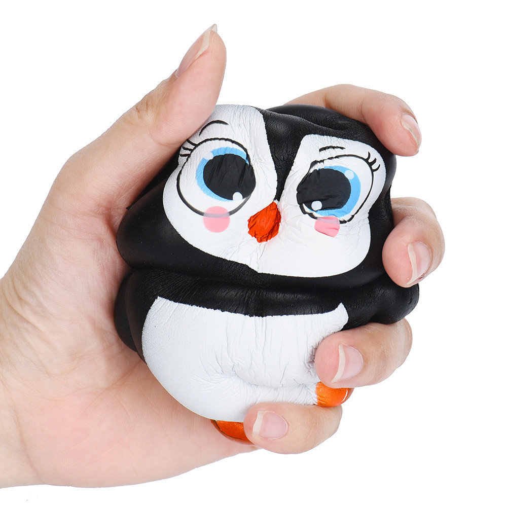 Kawaii 14CM Jumbo Squishy Penguin Super Slow Rising Squeeze Soft Stretch Scented Bread Cute Penguins Fun Kids Toys Gifts