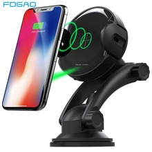 FDGAO 15W Automatic Wireless Car Charger Mount For iPhone XS X XR 8 Samsung S10 Air Vent Phone Holder Qi Fast Charging Bracket