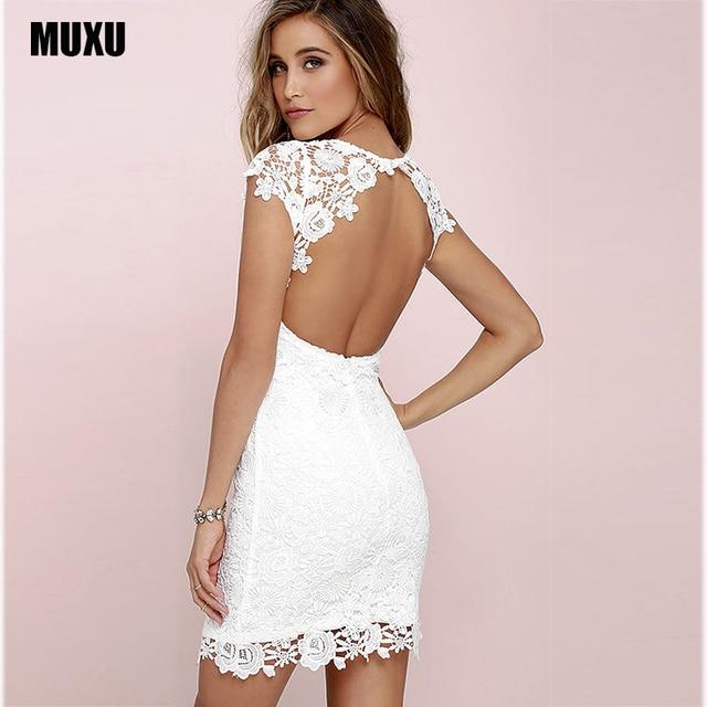 60c4a296af513 US $24.44 35% OFF|summer sexy lace dress white backless vestido mujer moda  feminina plus size vetement femme roupa feminina vestido branco bodycon-in  ...