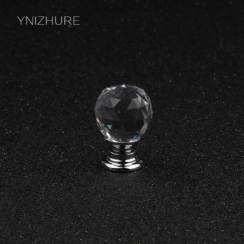 20mm 10pcs K9 Transparent Crystal Glass Knob Drawer Cupboard Dresser Handle Furniture Accessories Hardware Hot mini Handle mini fancy 4pcs crystal skull transparent glass cup