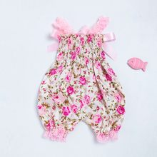 Toddler Baby Boys Girls Floral Romper Jumpsuit+Headband Set Sunsuit Outfits Kid Clothing baby romper roupa infantil Dropshipping(China)
