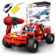 431Pcs Building Block Remote Control Car DIY Rechargeable RC Construction Toys Funny Gift For Boys (1:16 Red RC Car )(China)