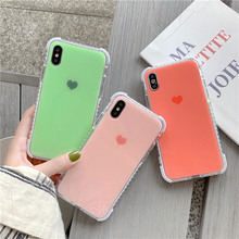 Love heart Anti-knock Shockproof Case for iphone 7 8 6 6s Plus For 11 11Pro Max X XR XS Corner anti-fall case cover