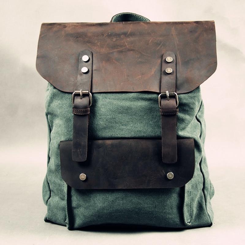 2019 hot sale men vintage canvas backpacks fashion preppy backpacks rucksack canvas the knapsack school bags