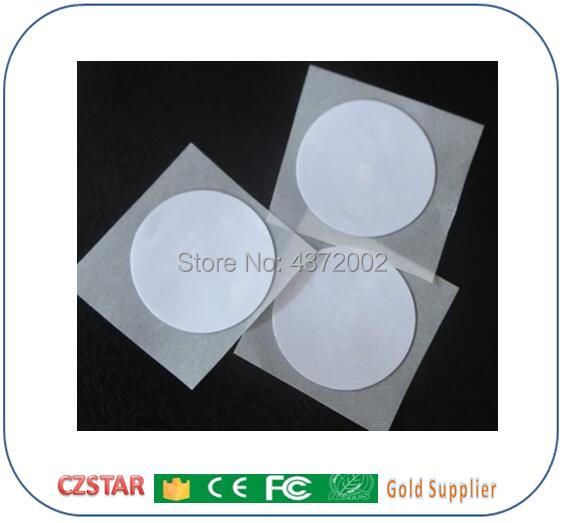 13.56mhz NFC Sticker RFID Tag ISO14443A Rfid Sticker Ntag213 NFC Stickers Round RFID RFID Label Size Customized 15mm/25mm/27mm