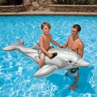 Water inflatable swimming ring animal dolphin inflatable toy children swimming seat ring swimming ring