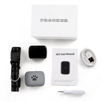 Mini Size Pet GPS Tracker Waterproof Smart GPS Tracker With Collar For Pets Cat Dog GPS+LBS Location