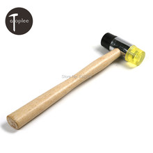 1 шт. два состава молоток маллет с пластиковой и резиновые Detatachable главы молоток деревообрабатывающие ручной инструмент(China (Mainland))