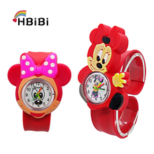 3D Cartoon Mickey Simple Kids Watches Rubber Minnie Bracelet