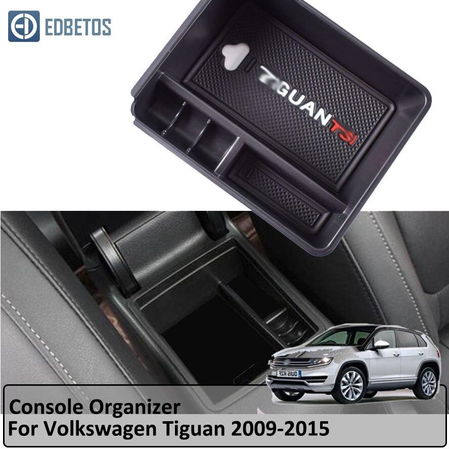 Caixa de armazenamento luva braço para volkswagen v w tiguan 2009 2010 2011 2012 2013 2014 2015 tiguan acessórios console organizador