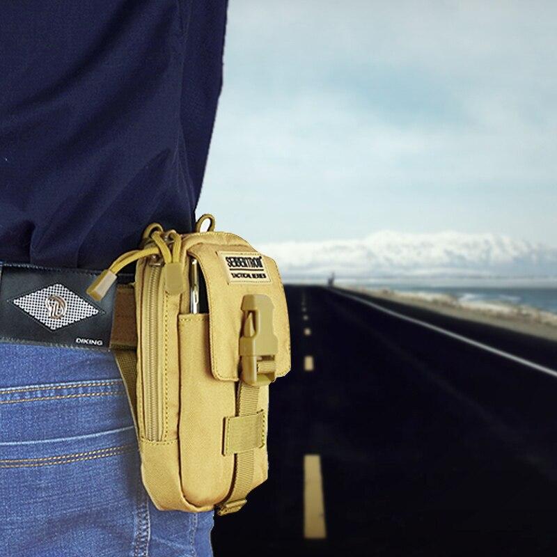 Seibertron Compact MOLLE EDC Pouch Utility Gadget Pouch wallet Detachable Neck Lanyard 6.3″ Mobile Phone Purse Belt Waist Bag